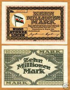 Germany, 10,000,000 (10 million) Mark, 1923, P-NL, UNC