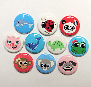 10 cute animal buttons pins badges 1 animals. Black Bedroom Furniture Sets. Home Design Ideas