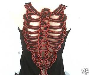 TATTOO-BODY-BONE-Gothic-Emo-Designer-TANK-TOP-SHIRT-M-L