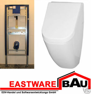 geberit urinal mit deckel vorwandelement komplettset ebay. Black Bedroom Furniture Sets. Home Design Ideas