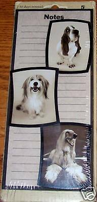 Lined Notepad W/3 Dog Magnets