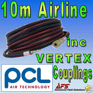 Genuine-PCL-10m-AIR-TOOL-HOSE-INC-AIRLINE-WITH-COUPLING