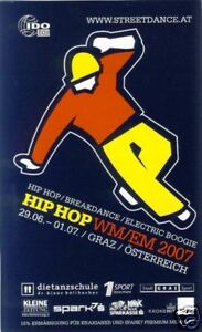 Aufkleber Pickerl Sticker Klebebild Hip Hop World Cup WM EM Graz adhesive label - Steiermark, Österreich - Aufkleber Pickerl Sticker Klebebild Hip Hop World Cup WM EM Graz adhesive label - Steiermark, Österreich