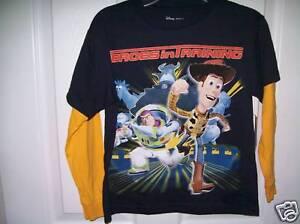 Disney-Toy-Story-Navy-Blue-Yellow-Long-Sleeve-Shirt-Boys-Size-7-Large-NWT