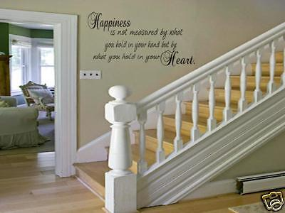 HAPPINESS Home Bedroom Decor Vinyl Wall Art Decal Design Sticker Words Lettering