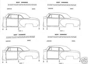 1949-50-51-52-53-54-Studebaker-NOS-Body-Shimming-Guide