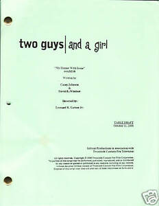 "TWO GUYS / AND A GIRL show script ""My Dinner With Irene"