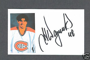J-J-Daigneault-signed-Canadiens-hockey-index-card