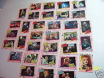 Complete Vintage 1985 Cyndi Lauper 33 Card Set