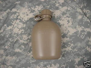 NEW-US-MILITARY-1-QUART-PLASTIC-CANTEEN-COYOTE-TAN