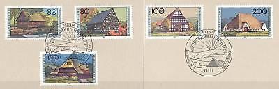 Brd 1996: Bauernhäuser! Wohlfahrt Nr. 1883-1887! Bonner Sonderstempel! 1a 157 Um 50 Prozent Reduziert