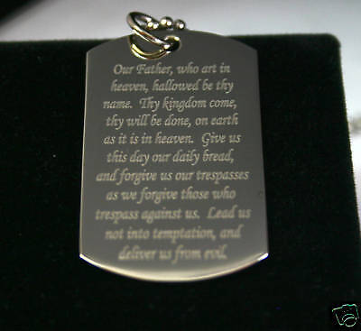 LORDS-PRAYER-OUR-FATHER-AND-CROSS-2S-DOG-TAG-NECKLACE-STAINLESS-STEEL
