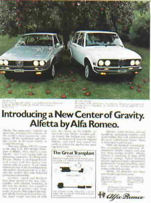 1975 ALFA ROMEO ***ORIGINAL AD*** ALFETTA