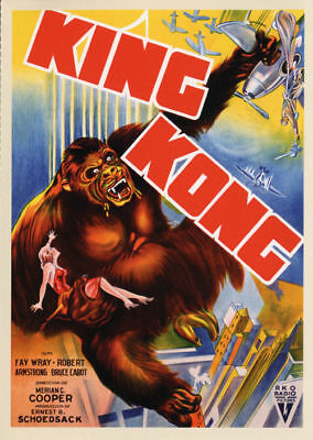 King Kong Fay Wray 1933 Vintage movie poster item 4