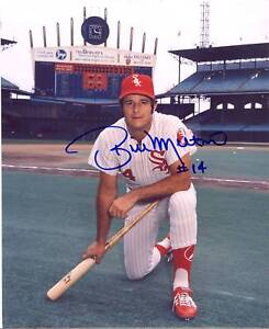 BILL MELTON CHICAGO WHITE SOX SIGNED 8X10 PHOTO W/COA