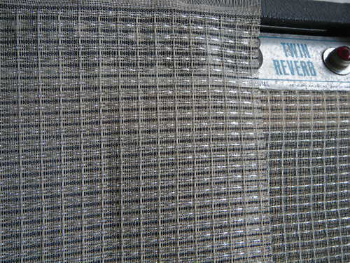 1yard Black & Silver Grill Cloth for Fender Two Speaker Twin ...