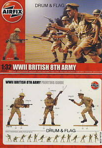 AIRFIX-A02707-WWII-BRITISH-8th-ARMY-1-32-SCALE-X-14-FIGURES-THE-DESERT-RATS-WW2