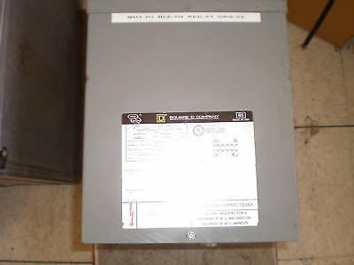 Square D 10s9fis Dry Transformer. 1ph 10kva 208v
