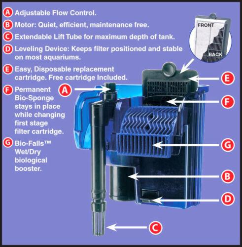 Cascade 100 aquarium power filter up to 20 gallon tank ebay for Filter for 100 gallon pond