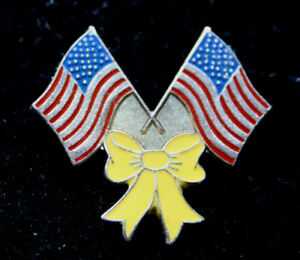 USA-FLAG-YELLOW-RIBBON-PIN-MARINES-NAVY-ARMY-AIR-FORCE