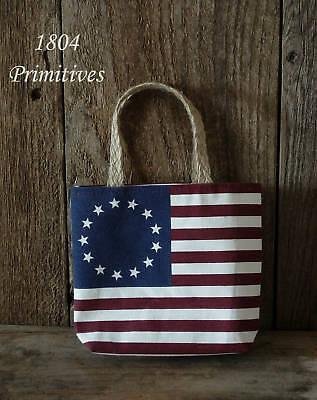 "3 ~ Americana FLAG Cotton Bags ... 6-1/2"" x 5-1/2"""