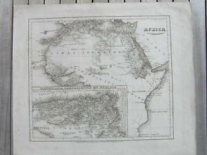 Africa-mappa-antica-antique-map-Mauretania-Caesariensis-Reichard-karte-Afrika