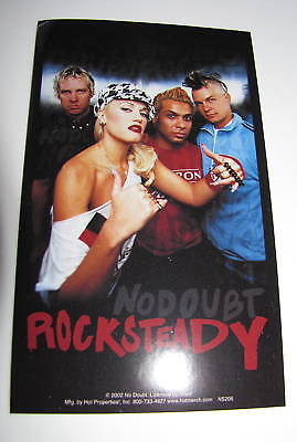 No Doubt Rock Steady Gwen Stefani Band 2002 Photo Car Bumper Music Sticker
