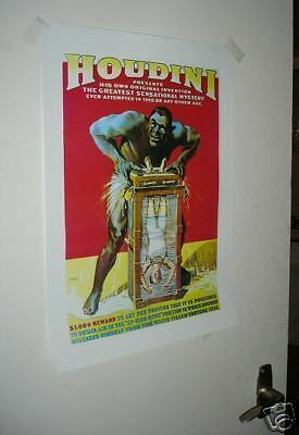 Harry Houdini Repro Poster NEW Water Torture