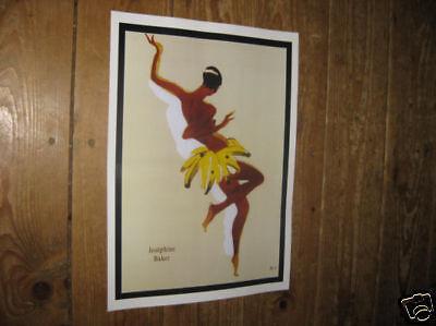 Josephine Baker Repro POSTER Banana Dance