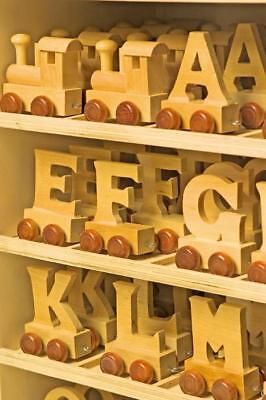 Buchstabenzug Namenszug Holz / Holzspielzeug Taufe Legler