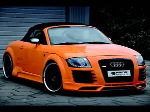 audi tt 8n r8 style body kit front and rear bumper lip side skirts lip grill ebay. Black Bedroom Furniture Sets. Home Design Ideas