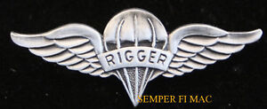 Parachute-RIGGER-WING-LARGE-XL-HAT-PIN-US-ARMY-MARINES-NAVY-AIR-FORCE-PARACHUTE