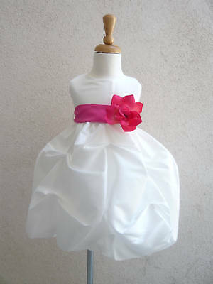 New Ivory Light Pink Easter Infant Pageant Flower Girl