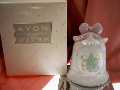 Avon PORCELAIN BELL Precious Moments 97 XMAS LTD   NIB * FREE SHIP