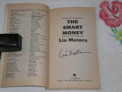 The-Smart-Money-by-Lia-Matera-signed-pb