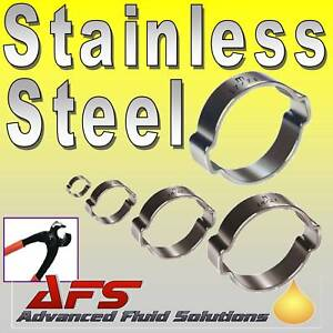 10-x-15mm-18mm-STAINLESS-DOUBLE-EAR-O-CLIPS-Fuel-Air-Water-Silicone-Hose