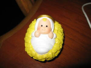 Fisher-Price-Little-People-Nativity-Baby-Jesus-Christmas-2001-older-style-Figure