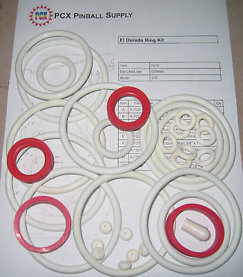 1975 Gottlieb El Dorado Pinball Rubber Ring Kit