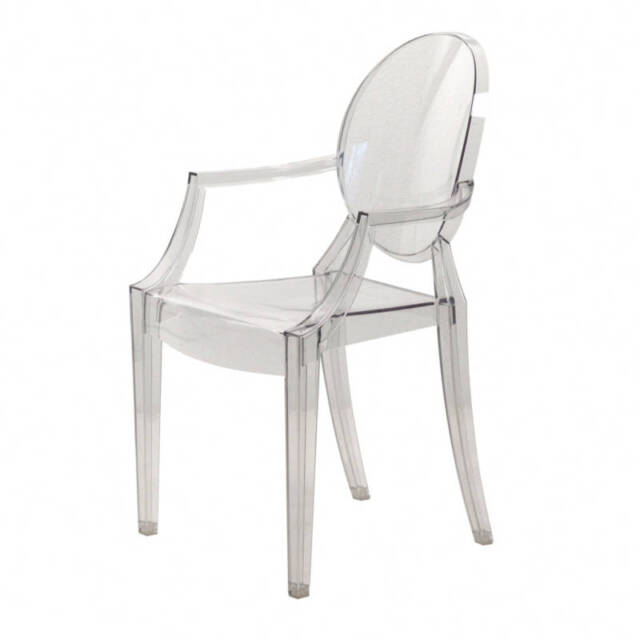Kartell Louis Ghost 4852 B4 Philippe Starck Glass Clear Transparent Chair  Classic
