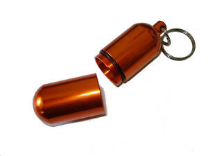 XL-Orange-Geocaching-Capsule-Key-Chain-Waterproof-Pill-Container-Match-Case