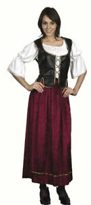 Medieval Womans #Costume Pirate Serving Wench Medieval /& Gothic Fancy Dress