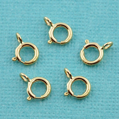 4.5MM 14k Solid Yellow Gold Spring Ring Clasp CLOSED