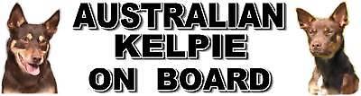 AUSTRALIAN KELPIE ON BOARD Dog Car Sticker by Starprint