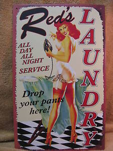 Reds-Laundry-Service-Tin-Metal-Sign-FUNNY-Wash-Room