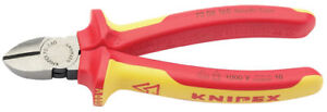 Knipex 70 08 160 VDE Fully Insulated Diagonal Side Cutters - Draper 31926