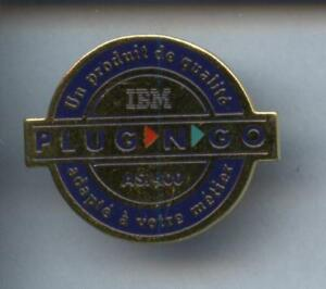 RARE-PINS-PIN-039-S-INFORMATIQUE-PC-COMPUTER-IBM-FRANCE-PLUG-amp-GO-6C