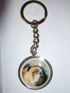 Porte cl s en m tal chien bouledogue anglais ebay for Porte and anglais