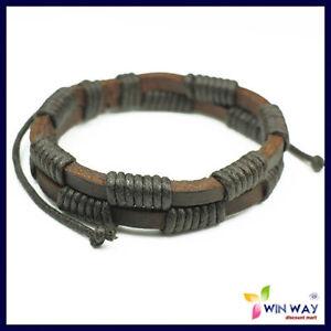 New-Leather-Hemp-Surfer-Tribal-MultiWrap-Wrist-Bracelet