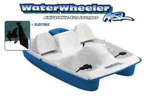 PADDLE-PEDDLE-BOAT-5PERSON-WATER-WHEELER-ELECTRIC-MOTOR