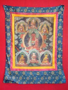 Antik-Original-Thangka-Asien-Thanka-Tibet-handbemalt